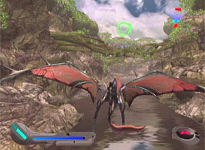 The heavy wing form flies through the Forest of Mutation.