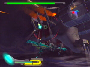 The light wing form attacks the airship Vermana.