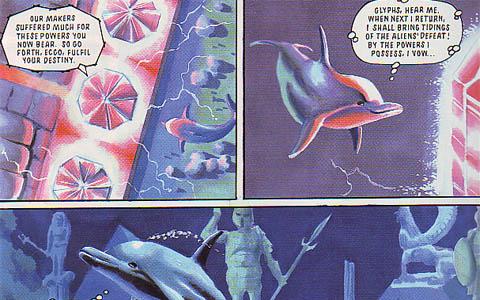 Ecco the Dolphin explores Alantis.