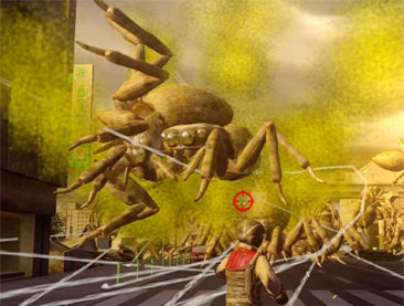 Attack of the many giant spiders.
