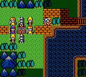 A darker area around the character shows where they can move.