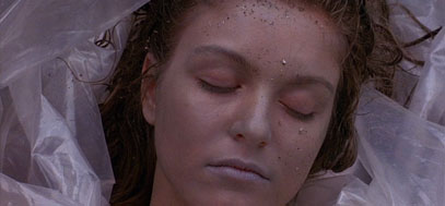 Laura Palmer's body, wrapped in plastic.