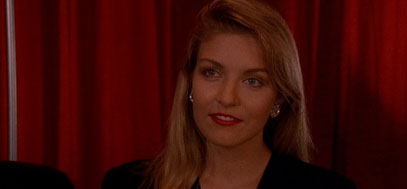 Laura Palmer visits Cooper in the red room.