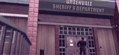 The front view of the Greenvale sheriff's department.