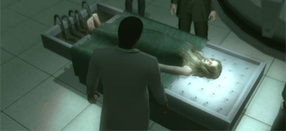 Anna's corpse lies on the autopsy table with Doctor Ushah and York stood around her.