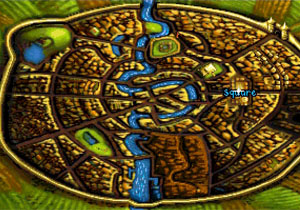 The map of the city of Ankh-Morpork.
