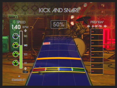 The drum trainer mode in RB.