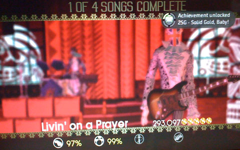 Qazimod and I play Rock band gold star Living on a Prayer.
