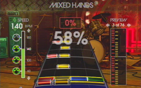 Hitting 53% of the notes in the mixed hands groove in drum trainer.