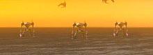 The giant robots on the horizon.