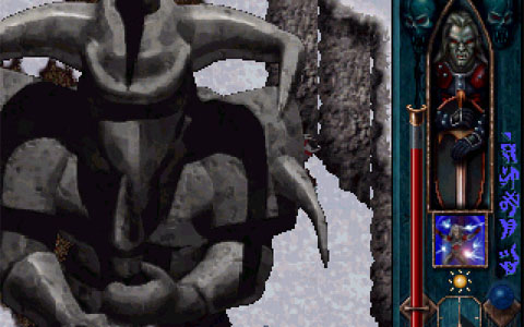 Blood Omen screenshot - A gigantic statue fills the screen.
