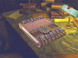 The Tome rests upon Edward's desk.