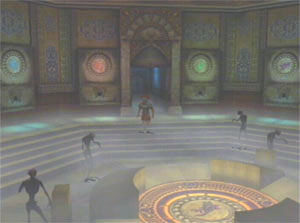 Pious enters a circular room and filled with zombies.