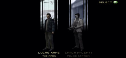 A typical character select screen, with Lucas and Carla.