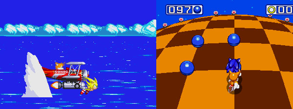 The intro and special stages to Sonic 3.