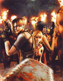 Leon, Ashley and Ada face the Los Ganados.