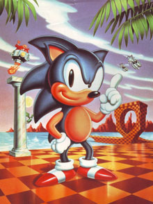 The classic pose of Sonic the Hedgehog
