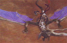 Orta and Lagi the dragon fly together.