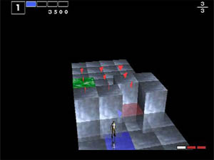 The targeting system highlights the next set of cubes to go.