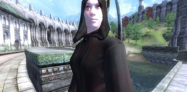My oblivion assassin at the Imperial waterfront.