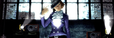 My Rock Band 2 character tips her hat.