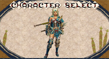 English is used in key places such as the character creation screen.