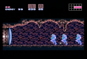Fast running in Super Metroid.