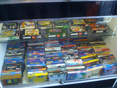 A rare collection of boxed NES and N64 games.