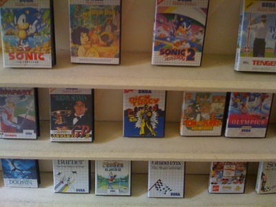 Master System games on the shelf!