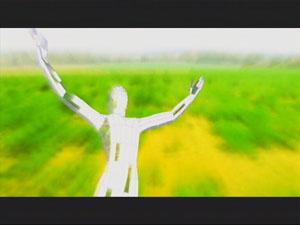 Eden flies through a grassy field as she begins to awaken.