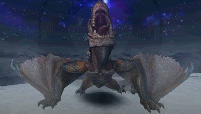 Tigrex lifts up his head and roars deeply.