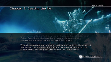 The FF13 chapter 3 story review screen.