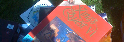 A pristine boxed copy of King's Quest VI on the PC at a car boot sale.