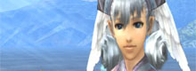 Melia looks at the camera.